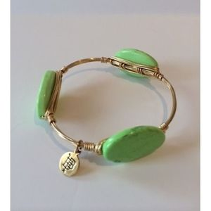 Neon Green Bourbon & Boweties Bangle